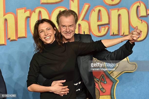 Jana Pallaske and Ralf Huettner attend the premiere of the film 'Burg Schreckenstein' at Mathaeser Filmpalast on October 16 2016 in Munich Germany