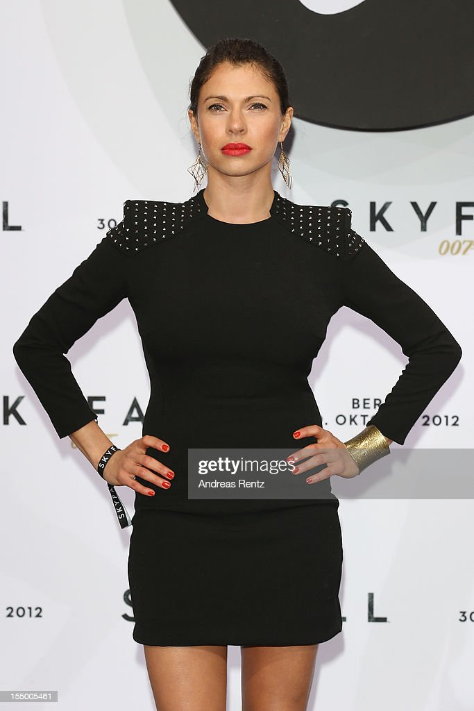 Jana Pallaske attends the 'Skyfall' Germany premiere at Theater am Potsdamer Platz on October 30 2012 in Berlin Germany