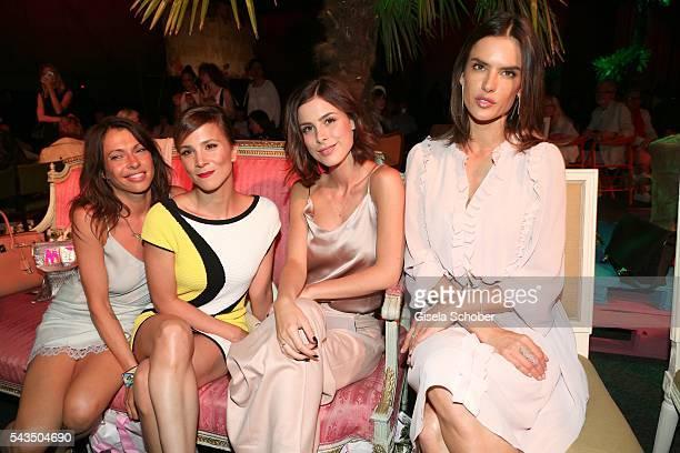 Jana Pallaske Aylin Tezel Lena MeyerLandrut and Alessandra Ambrosio during the Marc Cain fashion show spring/summer 2017 at CITY CUBE Panorama Bar on...