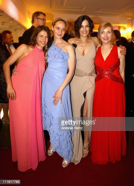Jana Pallaske Jeanette Hain Bettina Zimmermann and Nadja Uhl attend the after show party to the 'Lola German Film Award 2011' at Friedrichstadtpalast...