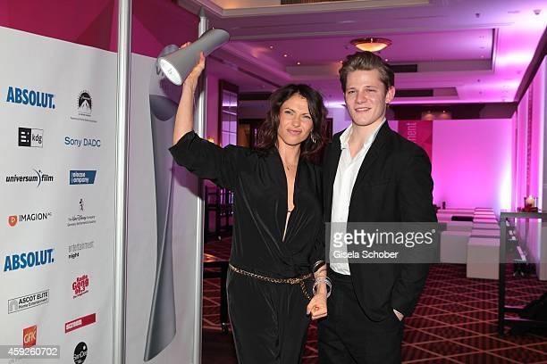 Jana Pallaske Max von der Groeben during the Video Entertainment Award 2014 on November 19 2014 at Hotel Westin Grand in Munich Germany