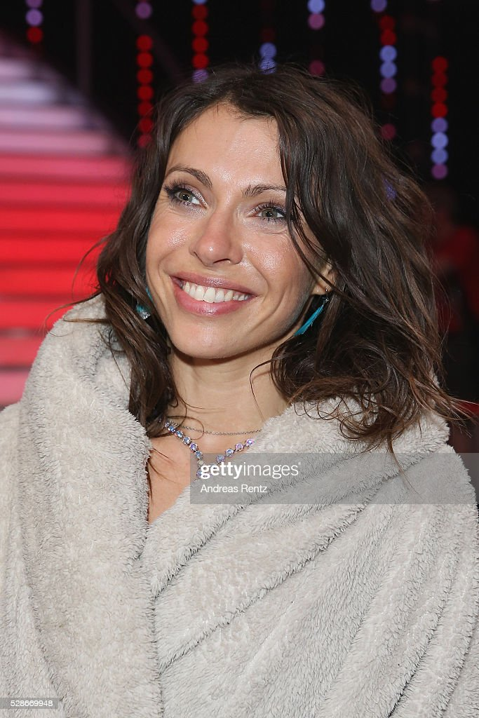 Jana Pallaske smiles during the 8th show of the television competition 'Let's Dance' on May 06, 2016 in Cologne, Germany.