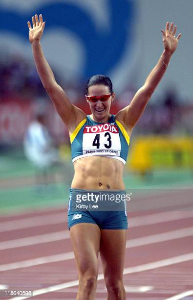 Jana Pittman of Australia wins the 400meter hurdles in the IAAF World Championships in Athletics at Stade de France on Thursday Aug 28 2003
