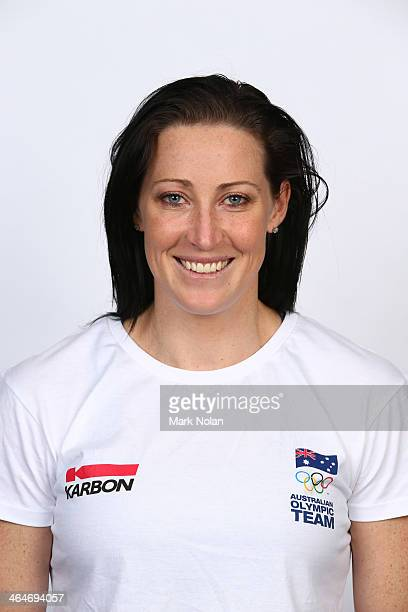 Jana Pittman poses during the AOC Headshot Session for the 2014 Winter Olympic Games at NSWIS on May 9 2013 in Sydney Australia