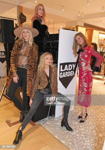 Jana Sascha Haveman Mary Charteris Clara Paget and Chloe Delevingne attend the launch of the new Lady Garden limited edition tshirts designed by...