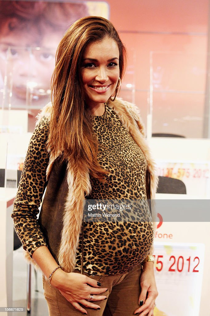 Jana-Ina Zarrella attends the 'RTL Spendenmarathon' at RTL Studios on November 23, 2012 in Cologne, Germany.