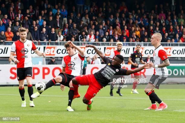 JanArie van der Heijden of Feyenoord Eric Botteghin of Feyenoord Nigel Hasselbaink of Excelsior Rick Karsdorp of Feyenoordduring the Dutch Eredivisie...