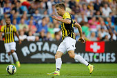 JanArie van der Heijden of Vitesse in action during the pre season friendly match between Vitesse Arnhem and Chelsea at the Gelredome Stadium on July...