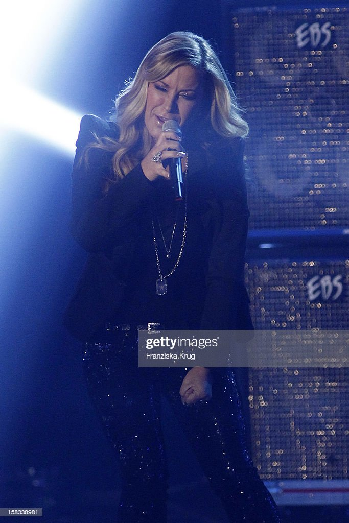 JAnastacia performs during the 18th Annual Jose Carreras Gala on December 13, 2012 in Leipzig, Germany.