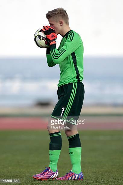 JanChristoph Bartels of Germany prepares for the penalty shootout during the U16 UEFA development tournament between Germany and Netherlands on...