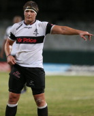 Jandre Marais of Sharks XV during the Vodacom Cup match between Sharks XV and ICBC Pampas XV at Kings Park on April 26 2013 in Durban South Africa