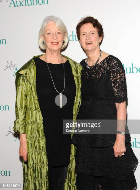 Jane Alexander and Frances Beinecke attend the 2017 Audubon Gala at Gotham Hall on March 1 2017 in New York City