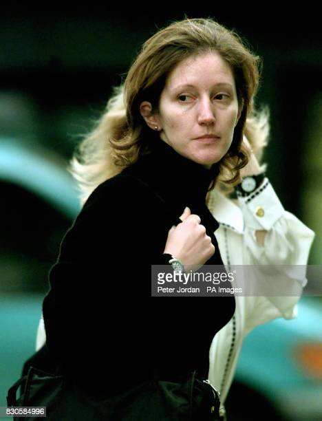 Jane Andrews former aide of the Duchess of York arrives at the Old Bailey where she is charged with the murder of her lover businessman Thomas...