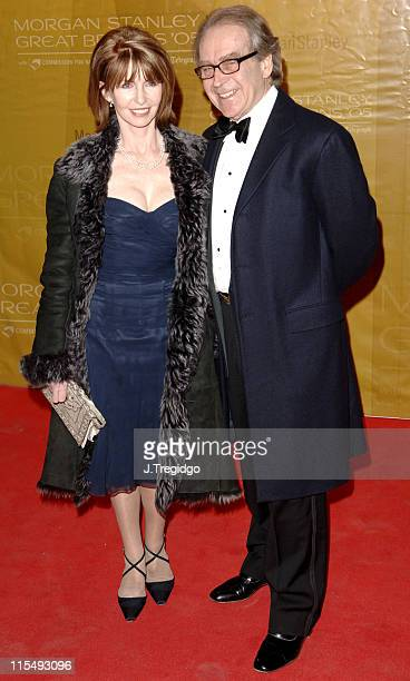 Jane Asher and Gerald Scarfe during Morgan Stanley Great Britons 2005 at Guildhall in London Great Britain