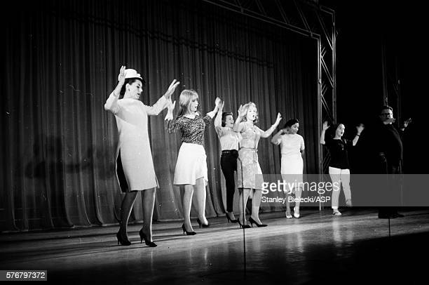 Jane Asher and Harry Secombe rehearsing a dance routine on stage London on July 23rd 1964