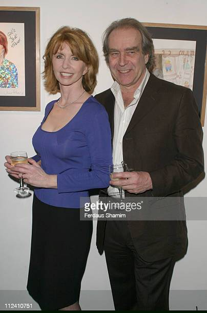 Jane Asher and her husband Gerald Scarfe during NDCSDiamond Anniversary Celebrity Exhibition at Picasso Gallery The Dali Universe London in London...