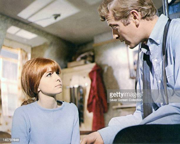 Jane Asher British actress looking up at Michael Caine British actor in a publicity still issued for the film 'Alfie' Great Britain 1966 The comedy...