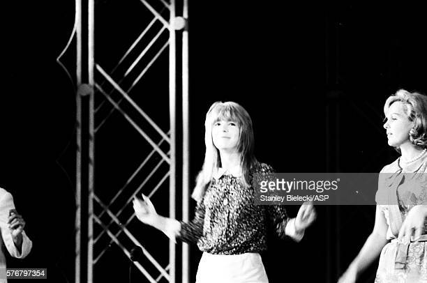 Jane Asher rehearsing a dance routine on stage London on July 23rd 1964