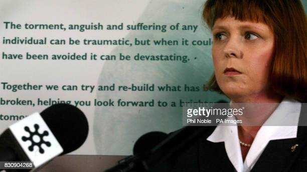 Jane Ashton Hibbert during a press conference in Altrincham Greater Manchester giving the families response to a TV programme about the GP Harold...