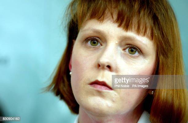 Jane Ashton Hibbert of the Shipman Family Support Group during a press conference in Altrincham Greater Manchester giving the families response to a...