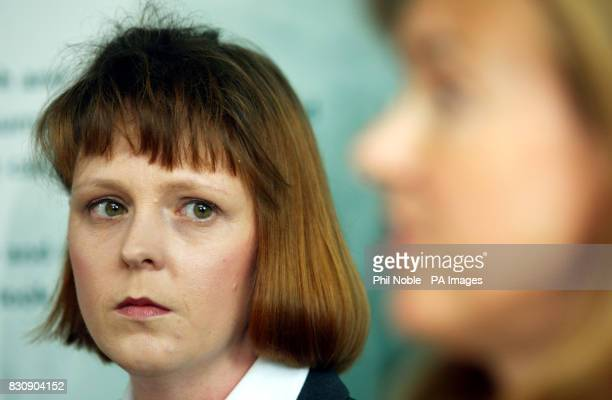 Jane Ashton Hibbert of the Shipman Family Support Group looks on as her solicitor Ann Alexander addresses a press conference in Altrincham Greater...
