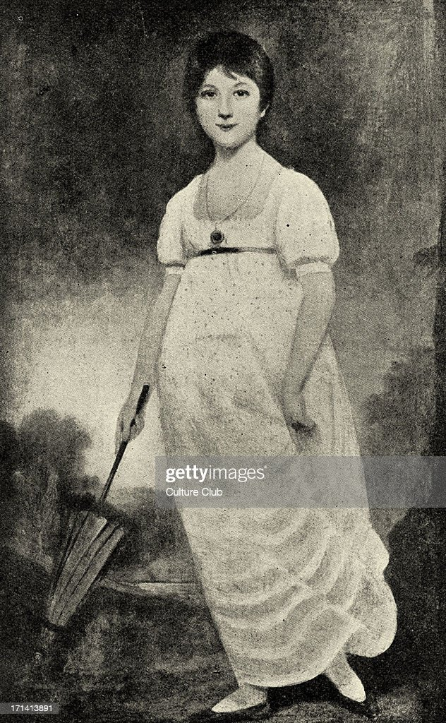 Jane Austen portrait of the English novelist as a young woman from the painting by Johann Zoffany 16 December 1775 18 July 1817