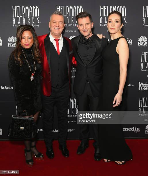 Jane Barnes Jimmy Barnes David Campbell and Lisa Campbell arrive ahead of the 17th Annual Helpmann Awards at Lyric Theatre Star City on July 24 2017...