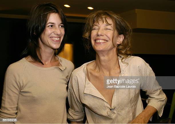 Jane Birkin and her daughter Charlotte Gainsbourg