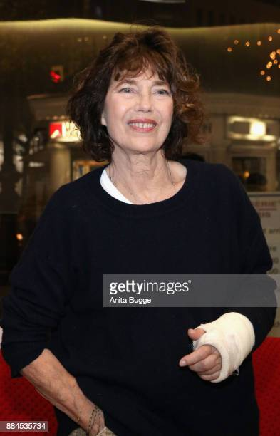 Jane Birkin attends the at 'Actrices' exhibition opening at the Institut Francais on December 2 2017 in Berlin Germany