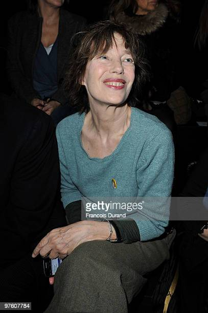 Jane Birkin attends the Hermes Ready to Wear show as part of the Paris Womenswear Fashion Week Fall/Winter 2011 at Halle Freyssinet on March 10 2010...