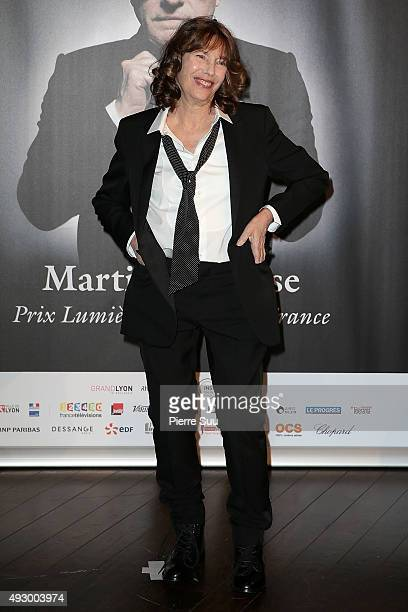 Jane Birkin attends the Tribute to Martin Scorsese as part of the 7th Film Festival Lumiere on October 16 2015 in Lyon France