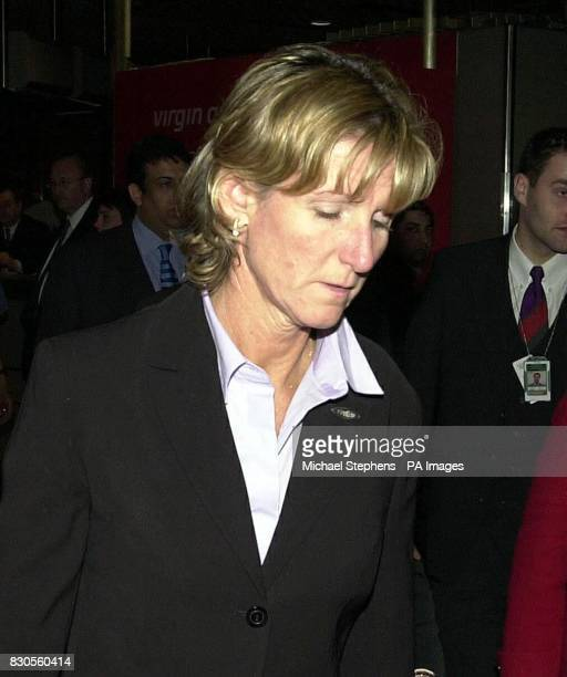 Jane Blackman the mother of murdered hostess Lucie Blackman arrives at Heathrow Airport in London after she brought Lucie's remains back to the UK...