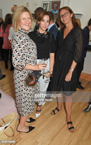 Jane Bruton Dee Koppang O'Leary and Caroline Rush attend the Mayor of London's Summer Culture Reception on July 18 2017 in London England