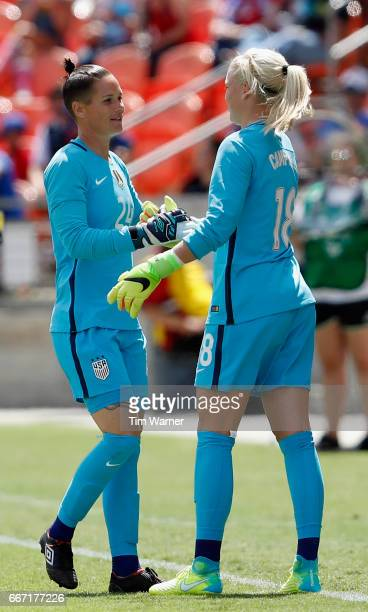 Jane Campbell of the US enters the game for Ashlyn Harris in the second half against Russia during the International Friendly soccer match at BBVA...