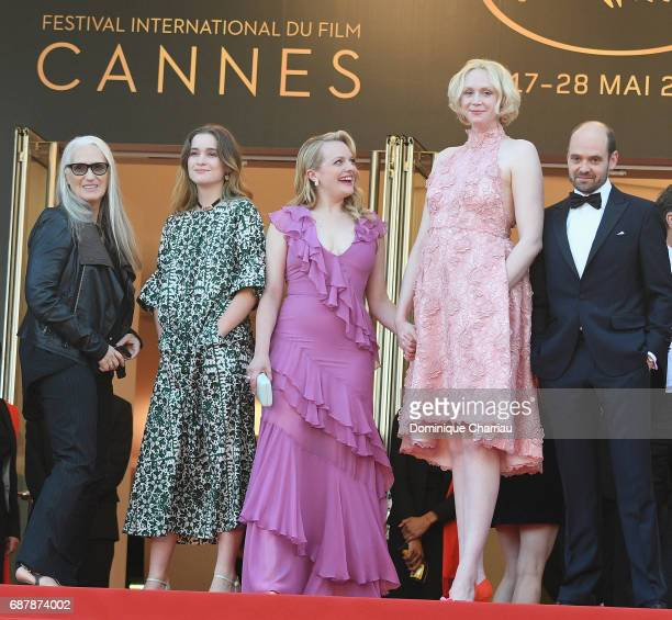 Jane Campion Alice Engler Elisabeth Moss Gwendoline Christie and David Dencik of 'Top of the Lake China Girl' attend the 'The Beguiled' screening...
