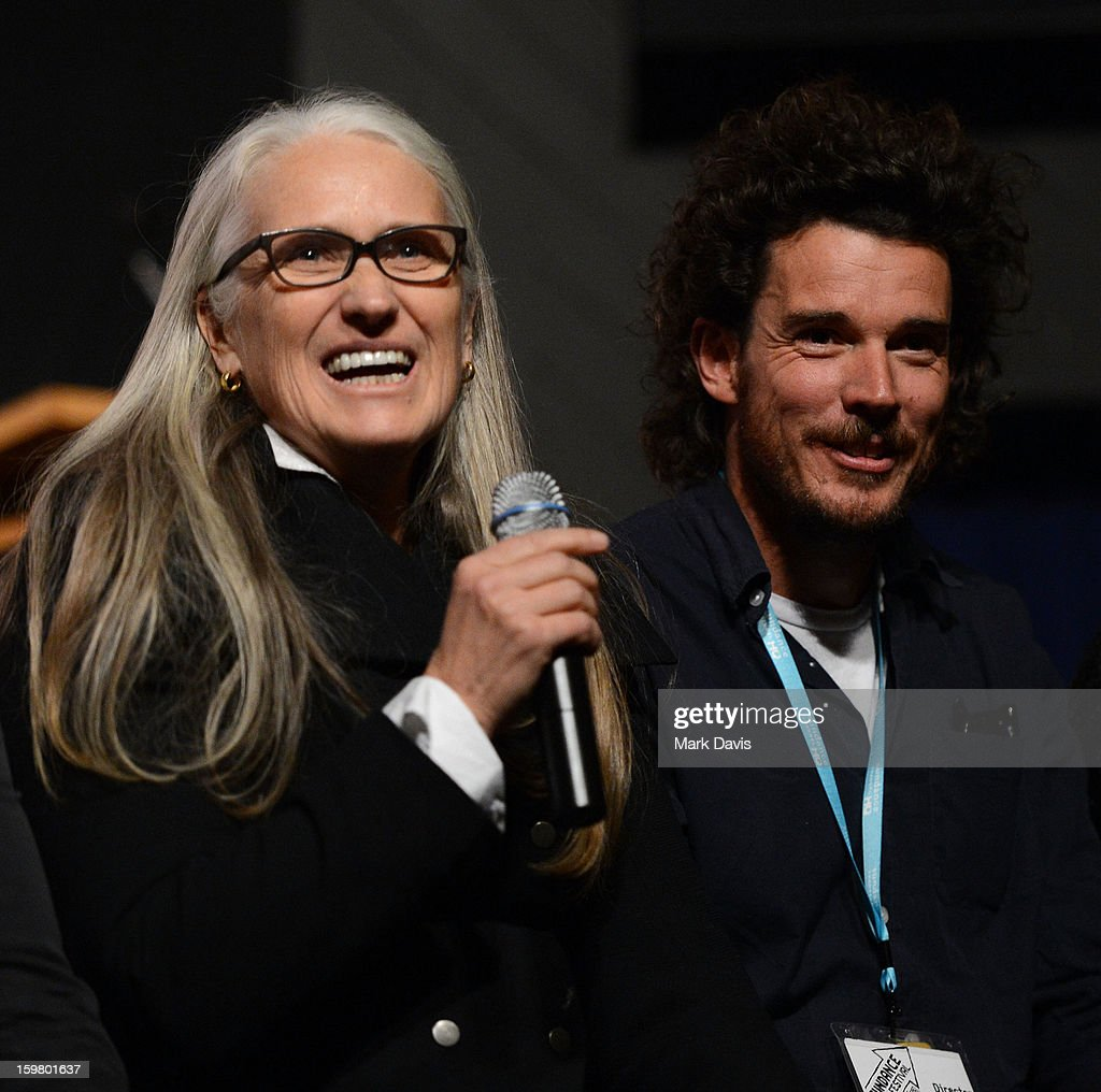 <a gi-track='captionPersonalityLinkClicked' href=/galleries/search?phrase=Jane+Campion&family=editorial&specificpeople=616530 ng-click='$event.stopPropagation()'>Jane Campion</a> (L) and Garth Davis attend the premiere of Sundance Channel Original Series 'Top of the Lake' on January 20, 2013 in Park City, Utah.