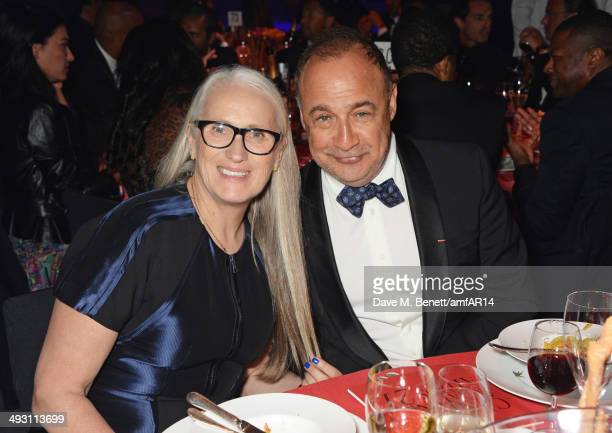Jane Campion and Len Blavatnik attend amfAR's 21st Cinema Against AIDS Gala presented by WORLDVIEW BOLD FILMS and BVLGARI at Hotel du CapEdenRoc on...
