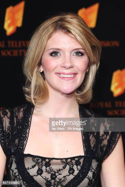 Jane Dansen arrives at the Royal Television Society's RTS Programme Awards at the Grosvenor House Hotel in London