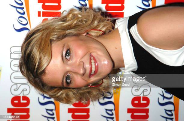 Jane Danson during 2004 Inside Soap Awards Press Room at La Rascasse Cafe Grand Prix in London Great Britain