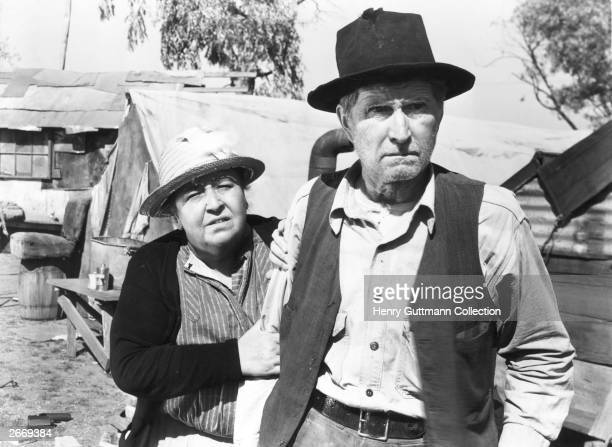 Jane Darwell as Ma Joad and Russell Simpson as Pa Joad in the film 'The Grapes of Wrath' directed by John Ford and produced by 20th Century Fox The...