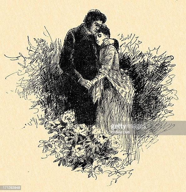 Jane Eyre by Charlotte Brontë Caption reads 'Are you happy Jane ' Charlotte Brontë British novelist 18161855 Illustrated by Edmund Henry Garrett