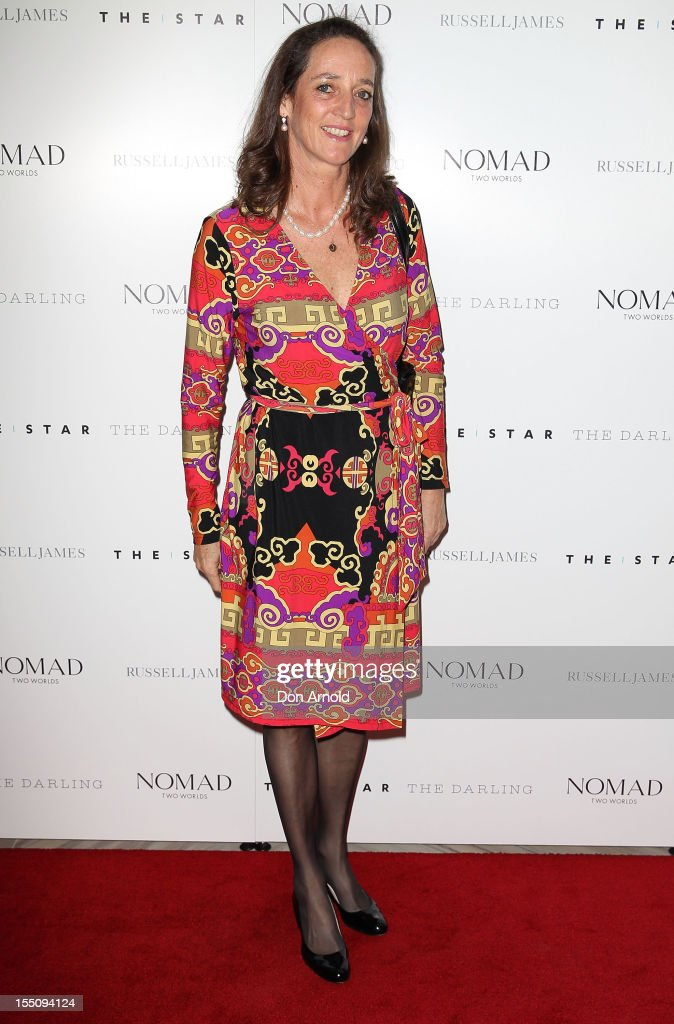 Jane Ferguson poses at the book launch of 'Nomad Two Worlds' by Russell James on November 1, 2012 in Sydney, Australia.