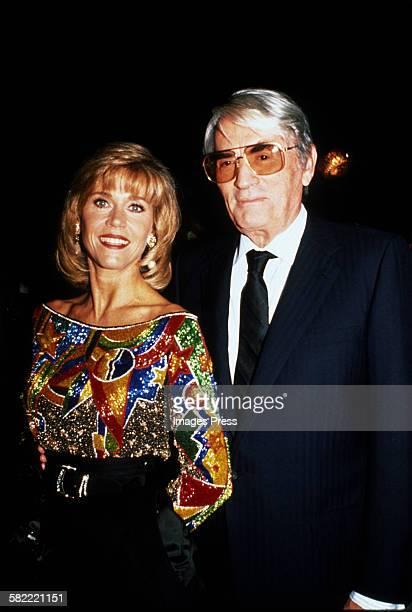 Jane Fonda and Gregory Peck circa 1989 in New York City