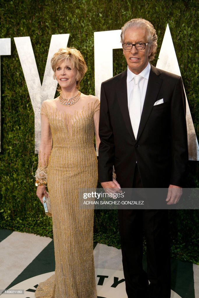 Jane Fonda (L) and guest arrive at the Vanity Fair Oscar Party, for the 84th Annual Academy Awards, at the Sunset Tower on February 26, 2012 in West Hollywood, California. GONZALEZ