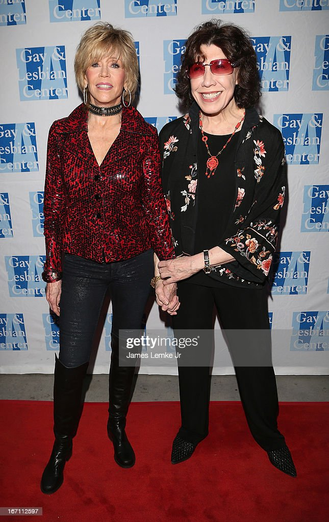 <a gi-track='captionPersonalityLinkClicked' href=/galleries/search?phrase=Jane+Fonda&family=editorial&specificpeople=202174 ng-click='$event.stopPropagation()'>Jane Fonda</a> and <a gi-track='captionPersonalityLinkClicked' href=/galleries/search?phrase=Lily+Tomlin&family=editorial&specificpeople=208236 ng-click='$event.stopPropagation()'>Lily Tomlin</a> attend The L.A. Gay & Lesbian Center's <a gi-track='captionPersonalityLinkClicked' href=/galleries/search?phrase=Lily+Tomlin&family=editorial&specificpeople=208236 ng-click='$event.stopPropagation()'>Lily Tomlin</a>/Jane Wagner Cultural Arts Center Presents Conversations With Coco With Special Guest <a gi-track='captionPersonalityLinkClicked' href=/galleries/search?phrase=Jane+Fonda&family=editorial&specificpeople=202174 ng-click='$event.stopPropagation()'>Jane Fonda</a> held at The Renberg Theatre on April 20, 2013 in Los Angeles, California.