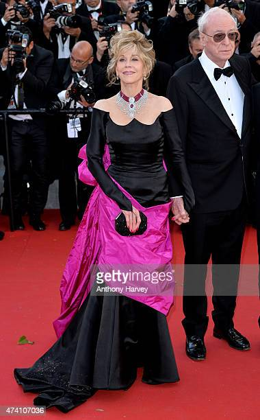Jane Fonda and Michael Caine attend the 'Youth' premiere during the 68th annual Cannes Film Festival on May 20 2015 in Cannes France