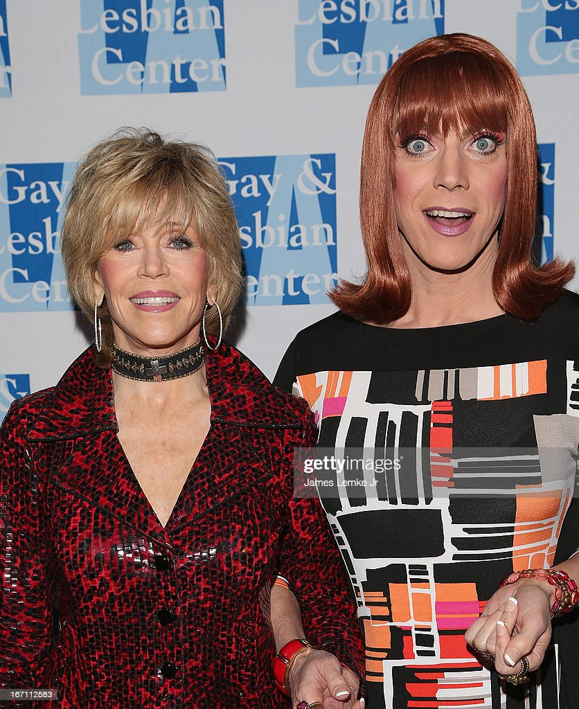<a gi-track='captionPersonalityLinkClicked' href=/galleries/search?phrase=Jane+Fonda&family=editorial&specificpeople=202174 ng-click='$event.stopPropagation()'>Jane Fonda</a> and Miss <a gi-track='captionPersonalityLinkClicked' href=/galleries/search?phrase=Coco+Peru&family=editorial&specificpeople=2219296 ng-click='$event.stopPropagation()'>Coco Peru</a> attend The L.A. Gay & Lesbian Center's Lily Tomlin/Jane Wagner Cultural Arts Center Presents Conversations With Coco With Special Guest <a gi-track='captionPersonalityLinkClicked' href=/galleries/search?phrase=Jane+Fonda&family=editorial&specificpeople=202174 ng-click='$event.stopPropagation()'>Jane Fonda</a> held at The Renberg Theatre on April 20, 2013 in Los Angeles, California.