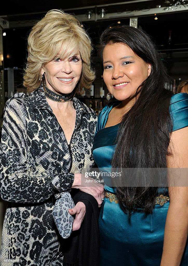 <a gi-track='captionPersonalityLinkClicked' href=/galleries/search?phrase=Jane+Fonda&family=editorial&specificpeople=202174 ng-click='$event.stopPropagation()'>Jane Fonda</a> and <a gi-track='captionPersonalityLinkClicked' href=/galleries/search?phrase=Misty+Upham&family=editorial&specificpeople=4835047 ng-click='$event.stopPropagation()'>Misty Upham</a> attend the Weinstein Company's holiday party at RivaBella on November 21, 2013 in West Hollywood, California.