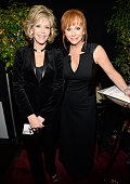 Jane Fonda and Reba McEntire attend the 37th Annual Kennedy Center Honors at The John F Kennedy Center for Performing Arts on December 7 2014 in...