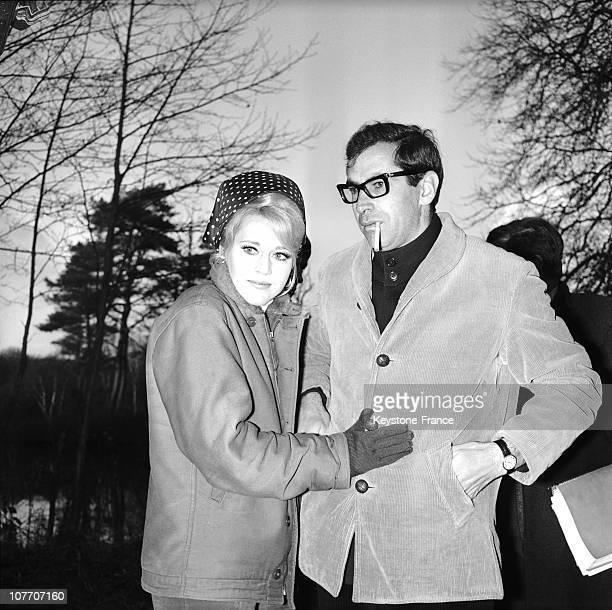 Jane Fonda And Roger Vadim On The Shoot Of The Gam